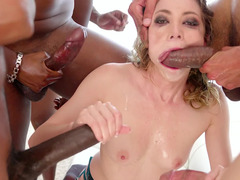 Whore has a talented mouth that gets brutally attacked by group of man