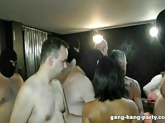 Private GangBang with a greek cumslut - part 1
