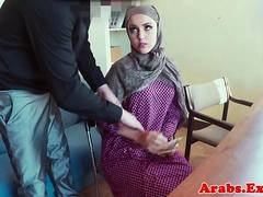 Arab whore pussy fucking for money