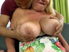 Old and young sex video by male and naughty older female