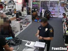 Latina Thief Gets Busted at Pawn Shop and Must Fuck for Her Freedom xp12890