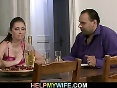 Passionate wifey cheats on hubby with pizza man
