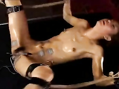 Japanese dame coerced to orgasms by electro stimulation