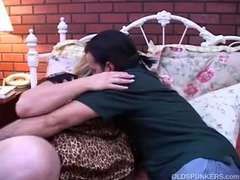 Splendid mature PLUMPER Deedra likes jizz all over her immense jugs