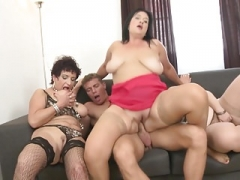 Boys get down and dirty mature moms and granny