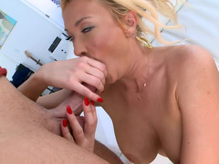 Summer Brielle creampie from the man with a big dick
