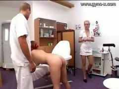 Gyno Exam Of Milky Kitten By Docto...