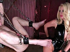 Strap-on Dildo In Her Slave's Ass
