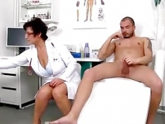 Huge natural titties cougar Greta is sexy doctor