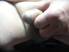70 yrold ​​grandpa # 204 uncut cum mature stroke close to masturbate