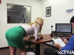 clothed babe gives a head video film 1