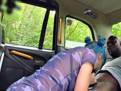 Black dude anal fucked babe taxi driver