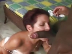 60 Yr. Grown-up With Tan Lines Takes BBC In The Ass