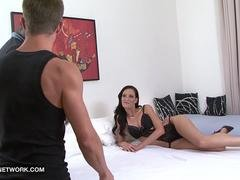 Cuckold licks pussy watches wife fucked by black man and masturbates