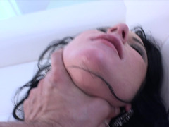 A hot little petite princess is getting her tight cunt pounded