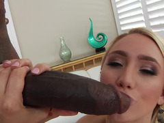 Pretty blonde gets her tight butthole penetrated with BBC