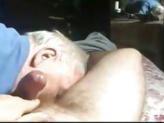 This grandpa is damn good in cock-balls sucking an