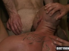 Muscle gay bound and cumshot