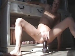 Rectal Dildo Gay Big Sextoy Getting down and dirty