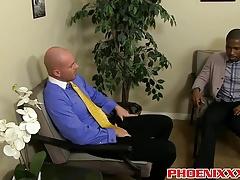 Mitch Vaughn sticks his cock inside black guys nice asshole