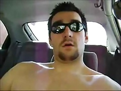 Horny Verbal Dude Jerks Off & Cums in Car
