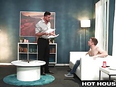 Naughty Young Gabriel punished by Daddy's big Dick