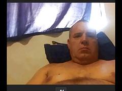 horny oldman on cam
