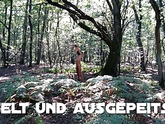 Slave tied in the woods and punished