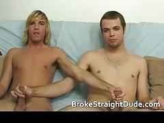 Hot and horny hetero guys having gay sex for cash