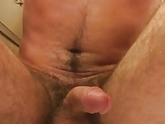 Cum pouring out after edging