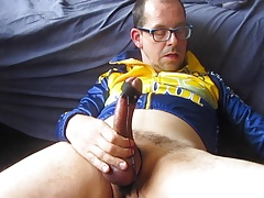 Smoking, edging, chain sounding, e-stim and a good cum