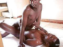 African Twinks Bareback Threesome