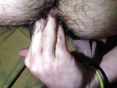 Hairy Boy Attempts Self Fist