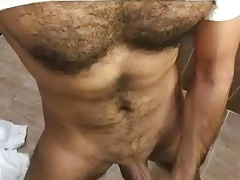 Huge hairy showing off