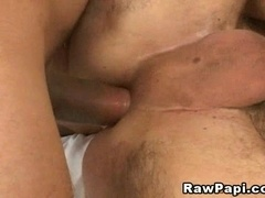 Handsome brunette gay gets his ass drilled from behind