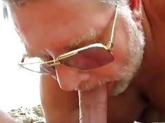 beach daddy bear blowjob
