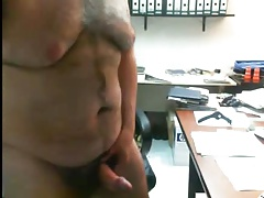 Daddy bear having fun at office