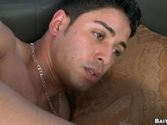 Hairy tattooed queer gets his asshole smashed in reality clip