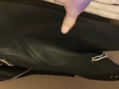 Cum on daughters friends leather jacket