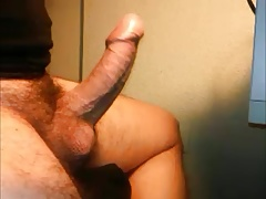 HARD THROBBING UNCUT HAIRY DICK
