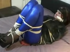 sissy wife bound and gagged by masked robber
