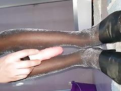 glosy pantyhose tights play