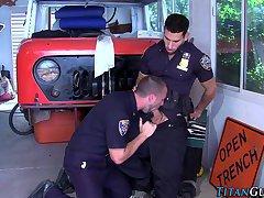 Cops buff pecs jizzed