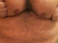 Shaking my big tits, fat belly, huge FUPA and tiny penis