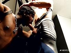 NextDoorEbony Leather Hotties Both Take Cock