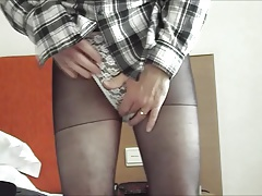 Black Skirt, tights and slips
