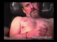 Rugged Mountain Man Stroking His Big Dick