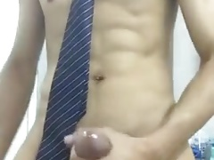 asian boy jerking off in bathroom (2'15'')