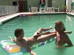 Gorgeous gay boys love fucking in the pool