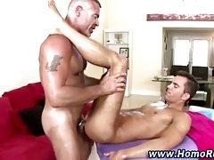 Hot gay bear fucks ass